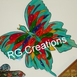 Code RGBF027,Butterfly chemical painting for home decor
