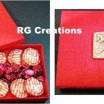 Code RGCB011,Designer box filled with Chocopie's & Rose petals by RG Creations