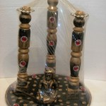 Code RGCNST010,Candle Stand designed by RG Creations.