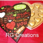 Code RGCP-0102,I Love you box filled with heart shaped chocolates for your Valentine