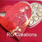 Code RGCP-0103,Sweetheart box filled with heart shaped chocolates for your Valentine