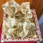 """Code RGDTR001,12""""x12"""" designer four potlies tray for dry fruits/chocolate/confectionery packing"""