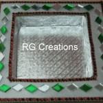 "Code RGDTR007,7.5""x7.5"" designer platter for dry fruits/chocolate packing"