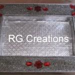 "Code RGDTR008,8""x12"" designer platter for dry fruits/chocolate packing"