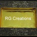 "Code RGDTR009,8""x12"" designer platter for dry fruits/chocolate packing"
