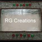 "Code RGDTR011,8""x12"" designer platter for dry fruits/chocolate packing"