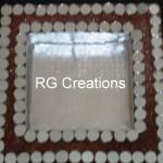 "Code RGDTR012,7.5""x7.5"" designer platter for dry fruits/chocolate packing"