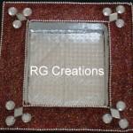 "Code RGDTR013,7.5""x7.5"" designer platter for dry fruits/chocolate packing"