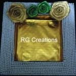 "Code RGDTR014,7.5""x7.5"" designer platter for dry fruits/chocolate packing"