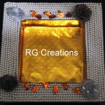 "Code RGDTR015,7.5""x7.5"" designer platter for dry fruits/chocolate packing"
