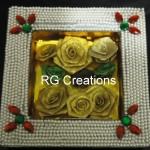 "Code RGDTR016,7.5""x7.5"" designer platter for dry fruits/chocolate packing"