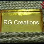 "Code RGDTR019,8""x12"" designer platter for dry fruit/chocolate packing"