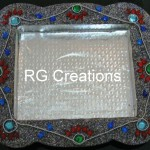 "Code RGDTR020,8.5""x9.5"" designer platter for chocolate packing"