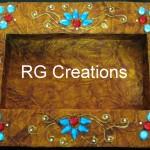 "Code RGDTR021,8""x12"" designer platter for dry fruit/chocolate packing"