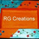 "Code RGDTR022,8""x12"" designer platter for dry fruit/chocolate packing"