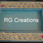 "Code RGDTR025,8""x12"" designer platter for dry fruit/chocolate packing"