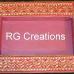 "Code RGDTR026,8""x12"" designer platter for dry fruits/chocolate packing"