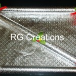"""Code RGDTR027,8""""x12"""" designer tray two parts for dry fruits packing"""