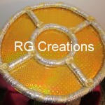 """Code RGDTR031,15""""x15"""" five cavities designer tray for dry fruits."""