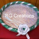 """Code RGDTR034,12""""x12"""" designer tray for dry fruits/cookies packing"""