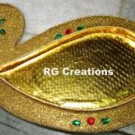 Code RGDTR048,Designer platter for dry fruit/chocolate packing