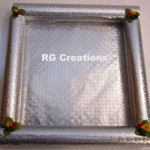 """Code RGDTR068,8""""x8"""" Designer tray for dry fruits/chocolate packing"""