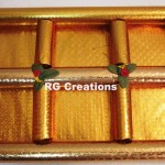 """Code RGDTR069,8.5""""x13.5"""" Designer six parts tray for dry fruits packing"""