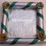 """Code RGDTR070 ,6""""x6"""" Designer tray for dry fruits/chocolate packing"""