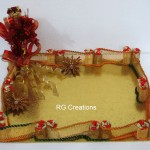 Code RGDTR071,Designer Tray for Gift/Trousseau Packing
