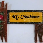 Code RGNP081,Handcrafted Name Plate for home decor
