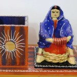 "Code RGPNST010"" Pen Stand with figurative work"""