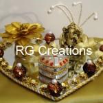 """Code RGRP011 """"Designer Ring ceremony platter"""""""