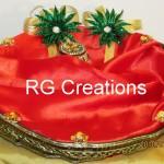 """Code RGRP017 """"Designer Ring ceremony platter"""""""