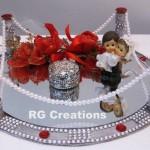 """Code RGRP020 """"Designer Ring Ceremony Platter"""""""