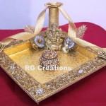 """Code RGRP025 """"Designer Ring Ceremony Platter"""""""