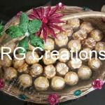 Code RGSHAG010,Designer basket full of Valentino Chocos by RG Creations