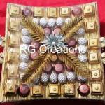 Code RGSHAG011,Chocolates in designer platter for Shagun/Ring  ceremony or Wedding reception.