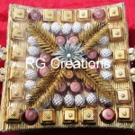 Code RGSHAG011,Designer Chocolate platter for your special day.