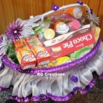 Code RGSP25,Silver&Purple color theme packing for Roka ceremony by RG Creations