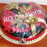 Saree packing in designer tray by RG Creations