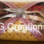 Saree packed in designer packing by RG Creations