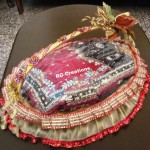 Saree packing in designer basket by RG Creations
